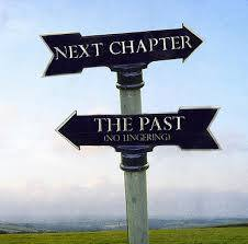 Signpost pointing toward future and past