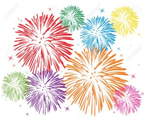 7318174-vector-colorful-fireworks-on-white-background-Stock-Vector